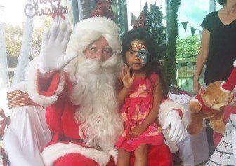 Trinity Paggao and Santa
