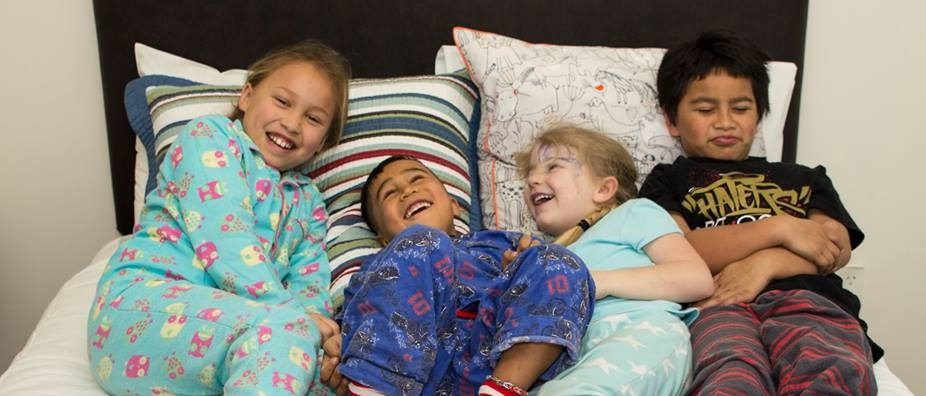 Kids in bed